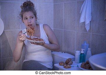 Female ashamed of her illness - Picture of female ashamed of...