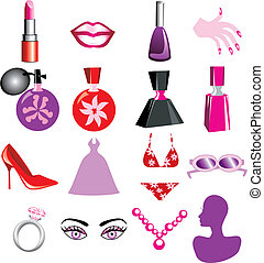 Beauty Icons - 16 Vector Silhouette Icons for Beauty or...