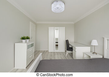 Contemporary design white bedroom