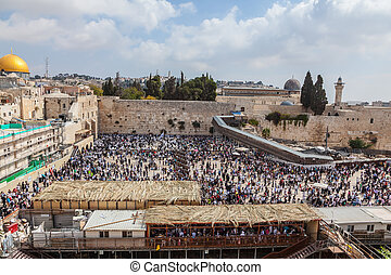 Jerusalem, Sukkot - Jerusalem, the Jewish holiday of Sukkot....