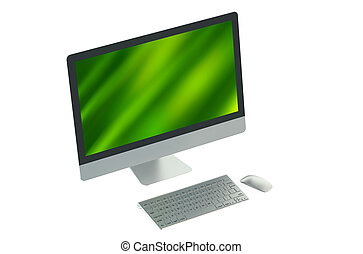 Desktop pc isolated on white background