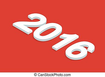 vector New Year background isometric