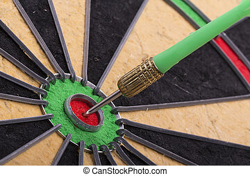 the dart hit the target