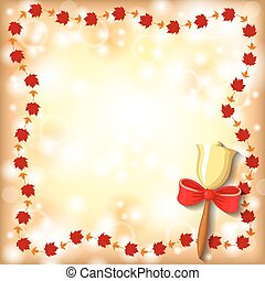 Greeting autumn frame with the beginning of the school year...