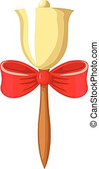 School bell on the handle, decorate - Vector illustrations...
