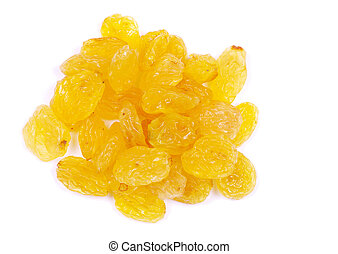 raisins isolated on a white background