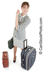 woman  with a luggage
