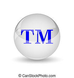 Trade mark icon. Internet button on white background.