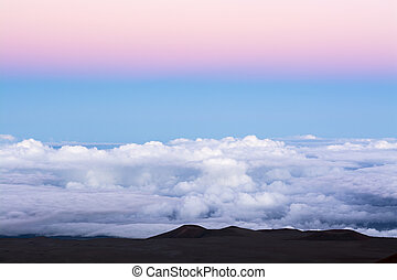 Cloud panorama on mountaintop - A classic pink inversion...