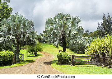 Ranch entrance in Hawaii - Entrance to a ranch in the...