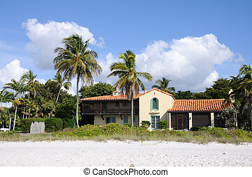 House at the beach of Naples, Florida USA