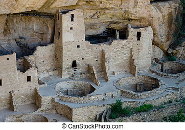 Mesa Verde Narrow - Cliff Palace dwelling in Mesa Verde...