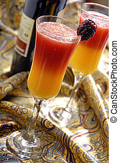 Red Mimosa - A variation of the popular Mimosa cocktail,...