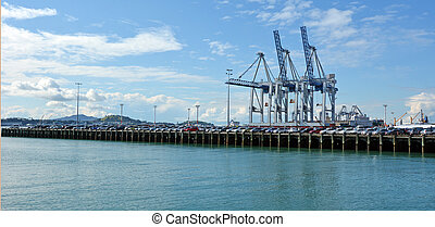 Ports of Auckland - New Zealand - AUCKLAND, NZL - AUG 01...
