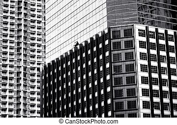 Abstract of exterior building