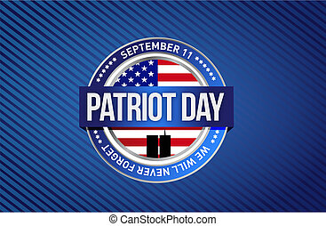 patriot day star sign illustration design graphic background