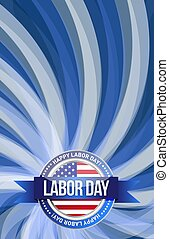 labor day seal sign illustration design graphic background