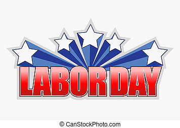 labor day sign illustration design graphic artwork