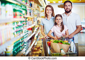 Healthy family - Caucasian family looking at camera in...