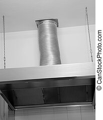 aluminum pot and a tap in the industrial kitchen - giant...
