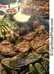 Mexican barbecue - cooking on a grill