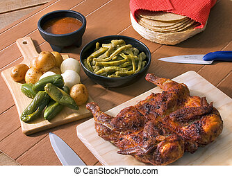 BBQ chicken mexican recipe - A nice set of a mexican...