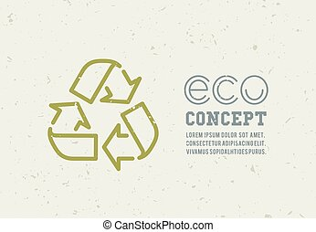 Recycling garbage icons concept Waste utilization Vector...