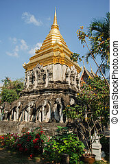 Old Buddhist temple in Thailand - The ancient Asian Buddhist...