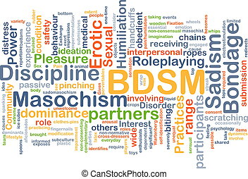 BDSM background concept - Background concept wordcloud...