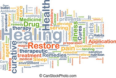 Healing background concept - Background concept wordcloud...