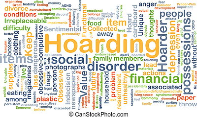 Hoarding background concept - Background concept wordcloud...