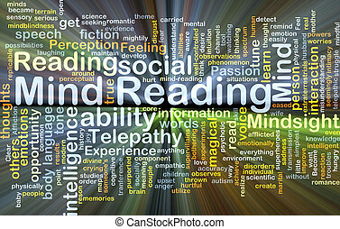 Mind reading background concept glowing - Background concept...