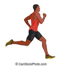 Vector running man