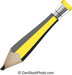 simple pencil abstract vector illustration isolated eps 10