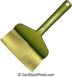 Broom abstract vector illustration isolated eps 10