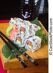 Sushi, cocina, japonés, Plano de fondo