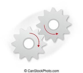 mechanics - two gear wheels as a design template