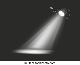 spot - dark stage with a single spot as light source