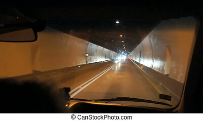 Abstract car in the tunnel trajectory.