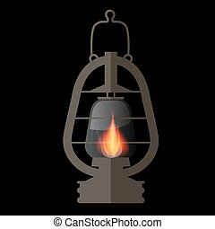 Lantern, Gas Lamp Illustration