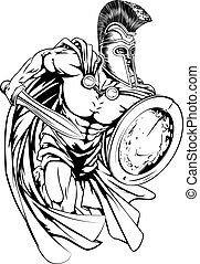 Spartan warrior - An illustration of a warrior character or...
