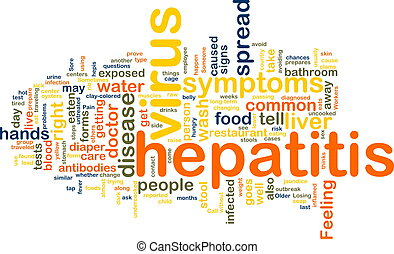 Hepatitis word cloud - Word cloud concept illustration of...
