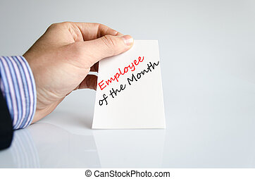 Employee of the month Text Concept - Employee of the month...