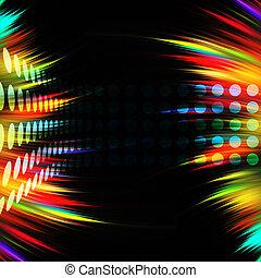 Colorful Swirls Layout - A colorful rainbow swirls...