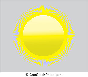 global warming sun icon symbol - heat drought - symbol for...
