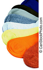 Colored Socks - Fan Shaped of Colored Cotton Socks isolated...