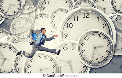 Its high time to do business - Concept of time with funny...