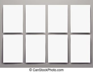 Design template blank booklets in vector graphics. - Design...