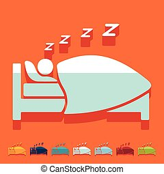 Flat design: sleep