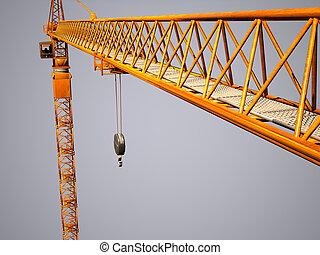 metal crane detail